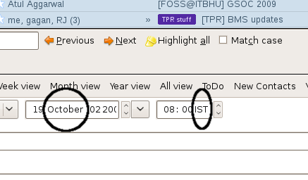 Datepicker and Timepicker Screenshot